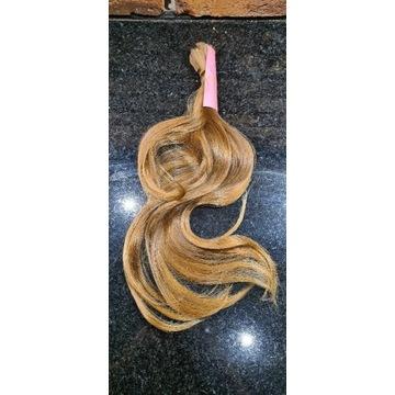 Włosy dziewicze (kolor #8) 40-45cm 71gr