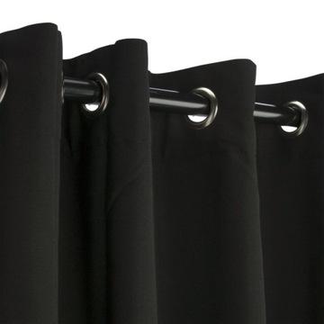 Zasłona ELEMA czarna 140 x 280 cm na przelotkach