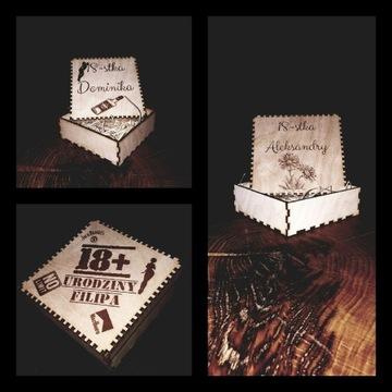 Pudełko 10x10 urodziny komunia ślub chrzest 18stka