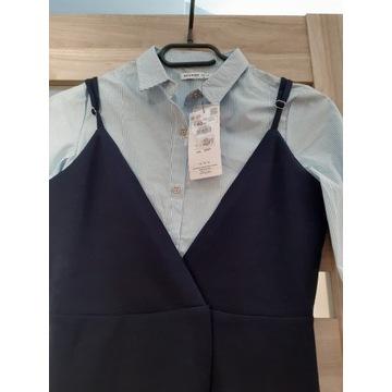 Granatowa tunika z koszulą Reserved  r. 140 lat 9