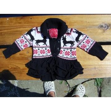 Sweterek dla dziewczynki / r. 68-74