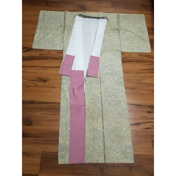 Japońskie jedwabne kimono Ooshima tsumugi