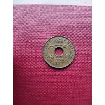 5 centów 1942 Brytyjska Afryka wschodnia