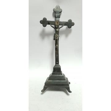 Przedwojenny krzyż, krucyfiks XIX wiek antyk