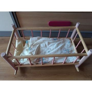 Drewniane łózeczko dla lalek