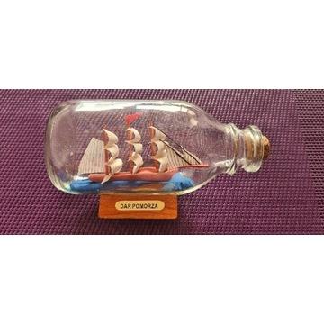 Żaglowiec Statek w butelce Dar Pomorza