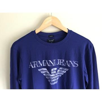 Męski longsleeve Armani Jeans fioletowy r. M