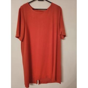 Tunika sukienka malinowa roz 48