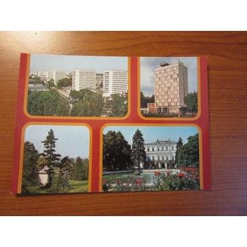 Pocztówka Puławy Hotel Domek Chiński Pałac Park