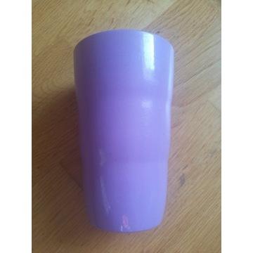 Osłonka ceramiczna na doniczkę kolor wrzosowy