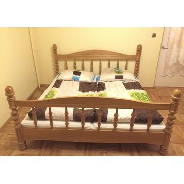Łóżko 180x200 dębowe klasyczne toczone