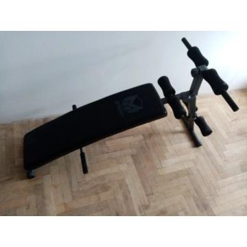 Ławka do ćwiczeń brzucha ławeczka skośna składana