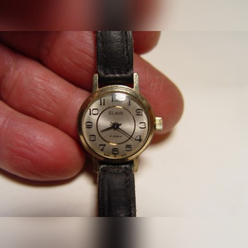 Zegarek damski slava 17 kamieni pozłacany
