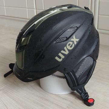 Kask narciarski męski UVEX r. L 59-60 cm czarny