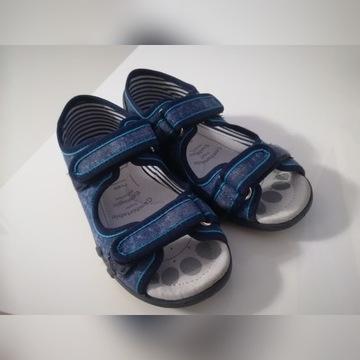 Ren-but sandałki kapcie ze skórzaną wkładką