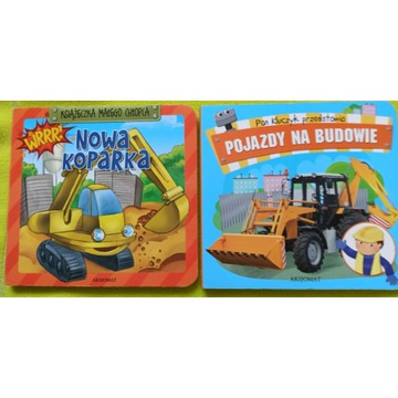 Książeczki dla małego chłopca Koparka budowa szt.2