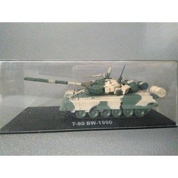 kolekcjonerski MODEL CZOŁGU T-80 BW - 1990