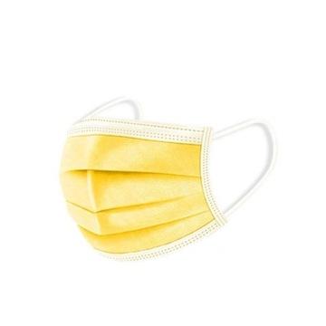 Żółta maseczka ochronna jednorazowa