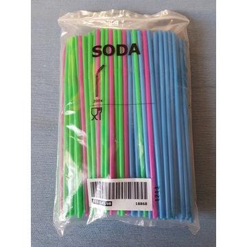 Plastikowe słomki SODA kolorowe
