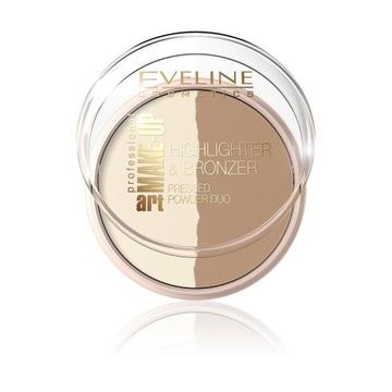 Eveline puder rozświetlający i bronzer nr 57 3szt