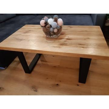 Dębowy solidny stolik kawowy typu  Loft