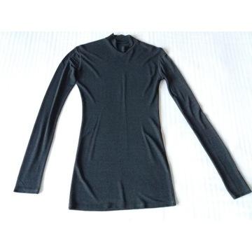 Bluzka tunika TONI GARD prześwitująca szara r. S