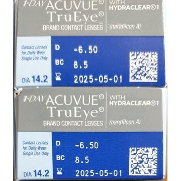 Soczewki kontaktowe 1 dniowe AcuvueTruEye -6.50