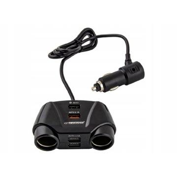 ASTI ROZGAŁĘZIACZ GNIAZDA 12-24V OUT USB QC 3.0