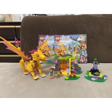 Lego Elves 41175 Przygody smoka ognia 100% komplet