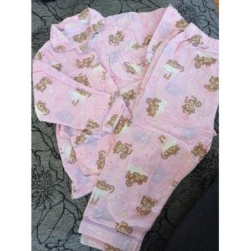 Piżama w małpki flanela 98