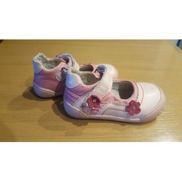 buciki skórzane dla dziewczynki baleriny 22