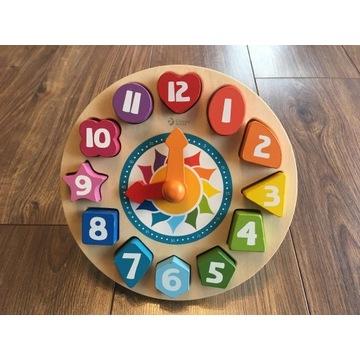 Zegar do nauki dla dziecka w formie klocków