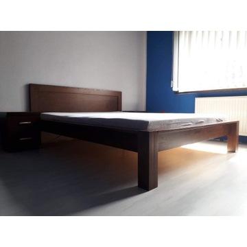 Łóżko drewniane 160 cm i szafki nocne