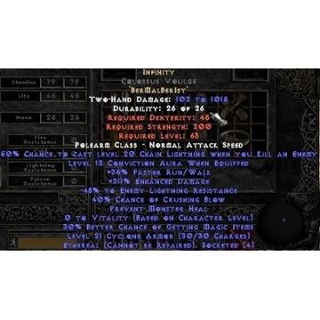 Nieskończoność Infinity - Diablo 2 LOD NOWY LADDER