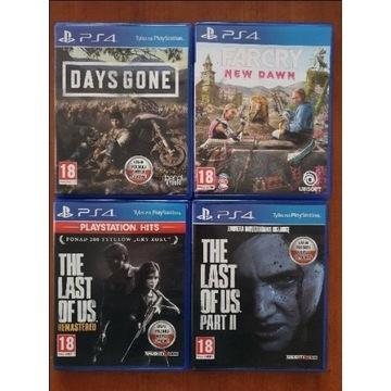 Zestaw gier na konsolę PS4