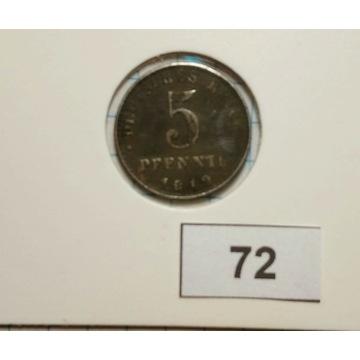 Niemcy - 5 Pfennig- 1819 r.