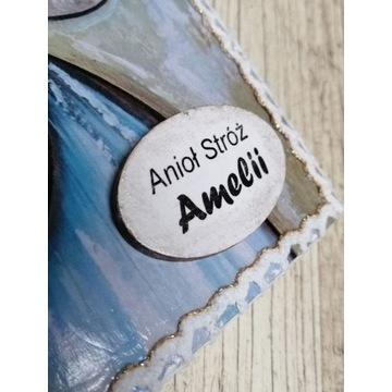 Personalizacja / dedykacja do Anioła na drewnie