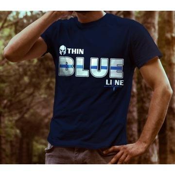Koszulka Thin Blue Line, Cienka niebieska linia