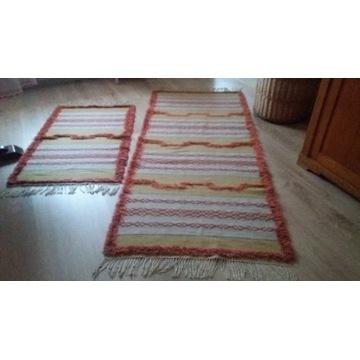 Komplet dwóch dywaników-chodników wełnianych