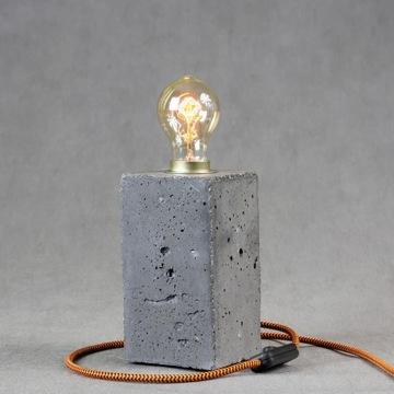 Betonowa lampa loft - grafitowa, lampa Edisona