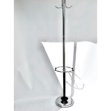 Chromowany wieszak, stojak na parasole, stylizowan