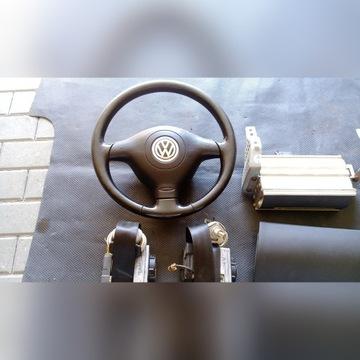 Airbag kierowcy pasazera zaslepka pasy  golf IV