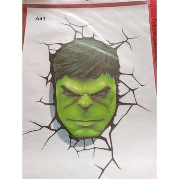 Naklejka na samochód Hulk twarz
