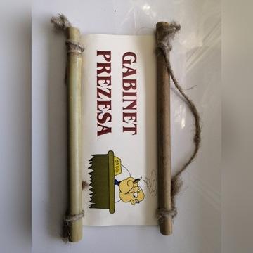 Zawieszka tabliczka na drzwi GABINET PREZESA