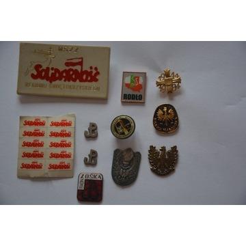 Odznaki, medale okolicznościowe - różne komplety