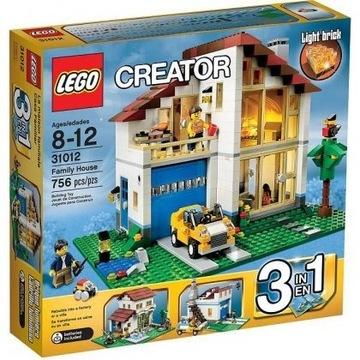 Lego Creator Dom rodzinny 31012 Świecący klocek!