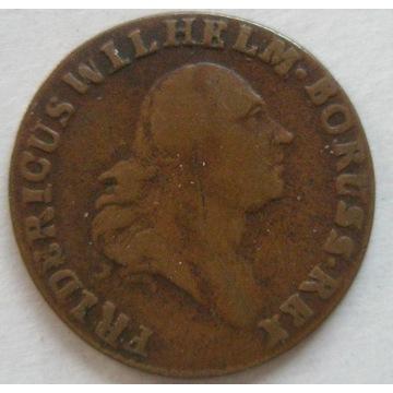PRUSY POŁUDNIOWE grosz 1797 B, Wrocław. Stan 3+