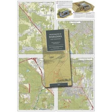 Zestaw mapa i książka Bruckenkopf Warschau 1944