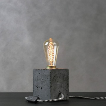 Lampa loft z betonu architektonicznego - grafitowa