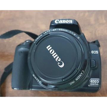 Lustrzanka Canon EOS 400D body + dodatki